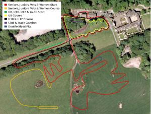 Hoghton Tower Cyclocross course layout