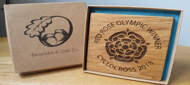 Red Rose Olympic Trophy from Oak and Bespoke